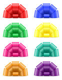 Set icons bow for gift vector illustration Royalty Free Stock Image
