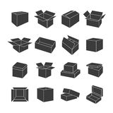 Set of icons of boxes, vector illustration. Stock Images