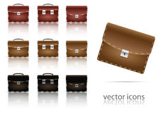 Set of icons of briefcase Stock Images
