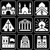 Set of icons (buildings, ancient) Royalty Free Stock Image