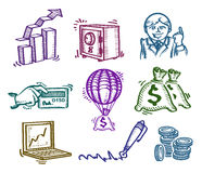 Set of icons. Business. Authors illustration in vector Royalty Free Stock Photo