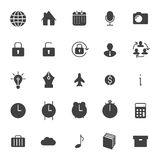 Set icons for business, communication, web Stock Images