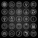 Set icons for business, communication, web.  Stock Image