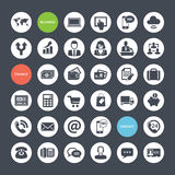 Set of icons for business, finance and communicati Royalty Free Stock Images