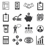 Set of icons for business, finance, m-banking Stock Image