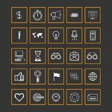 Set icons for business, internet and communication Stock Photo