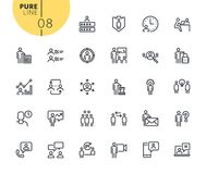 Set of icons for business management. Modern outline web icons collection for web and app design and development. Premium quality vector illustration of thin Stock Image