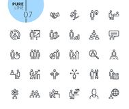 Set of icons for business people concept. Modern outline web icons collection for web and app design and development. Premium quality vector illustration of thin Royalty Free Stock Photo