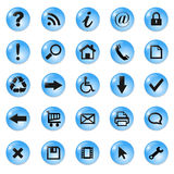Set of icons, buttons Royalty Free Stock Photos