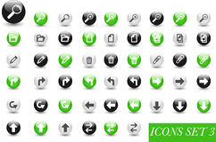 Set of icons or buttons Royalty Free Stock Photos