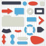 Set of icons, buttons and menus for websites Stock Image