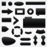 Set of icons, buttons and menus for websites in Royalty Free Stock Image