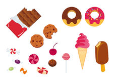 Set of icons candy Stock Images