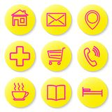 Set of icons for the card. Royalty Free Stock Images