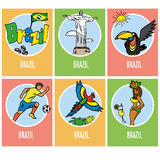 Set icons or cards - brazil Stock Photography