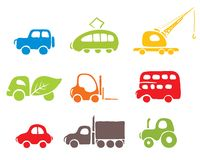 Set of icons -- cars Stock Photography
