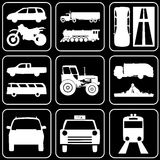 Set of icons (cars) Stock Photo