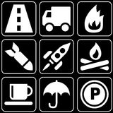 Set of icons (cars, travel) Royalty Free Stock Photo