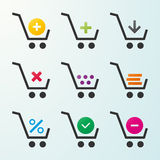 Set of icons of carts Stock Photography
