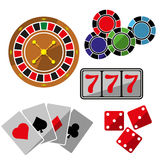 Set of icons for casino Stock Photos