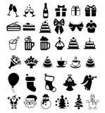 Set of icons on the celebration Stock Image