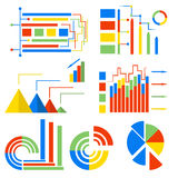 Set  icons charts Stock Photos
