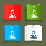Set icons chemical experiments blue background eps Royalty Free Stock Image