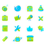 Set of icons children's products Royalty Free Stock Images