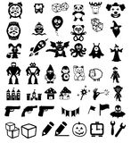 Set of icons on children's toys Royalty Free Stock Photo