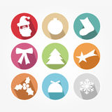 Set of icons - Christmas Stock Photos