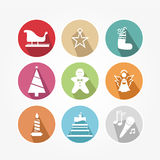 Set of icons - Christmas Royalty Free Stock Image