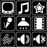 Set of icons (cinema, film) Stock Images