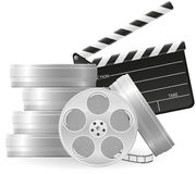 Set icons cinematography cinema and movie Stock Photo