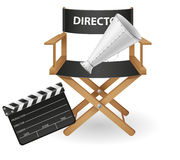 Set icons cinematography cinema and movie Royalty Free Stock Photography