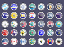 Set of icons. Cities of the USA flags. Vector royalty free illustration