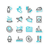 Set of icons - a cleaning Stock Photo