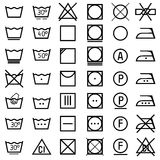 Set of icons on clothing label. Royalty Free Stock Photos
