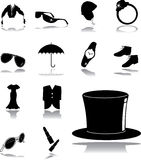 Set icons - 163. Clothing and shoes Royalty Free Stock Image