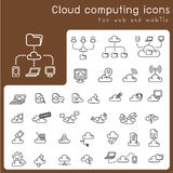 Set of icons for cloud computing Stock Photos