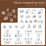 Set of icons for cloud computing Royalty Free Stock Photography