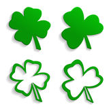 Set of icons clover Royalty Free Stock Images