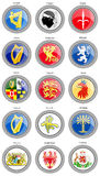 Set of icons. Coat of arms of the Europe. Stock Images