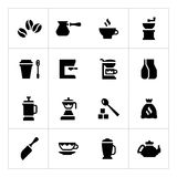 Set icons of coffee Royalty Free Stock Images
