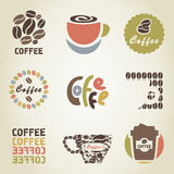 Coffee icon4. Set of icons on a coffee theme. A vector illustration Royalty Free Stock Photography
