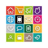 Set icons Royalty Free Stock Photos
