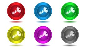 Set of icons in color,illustration,key Stock Photography