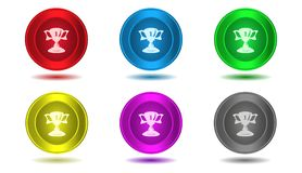Set of icons in color,illustration,trophy Royalty Free Stock Photo