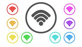 Set of icons in color,illustration,wireless. Set of icons in color,best illustration,wireless Stock Photography
