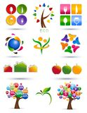 Set of icons. Colorful graphic illustration over white Stock Images