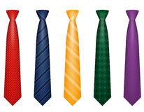 Set icons colors tie for men a suit vector illustration Royalty Free Stock Photography